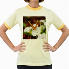 Butterfly 159 Womens  Ringer T Shirt (colored)
