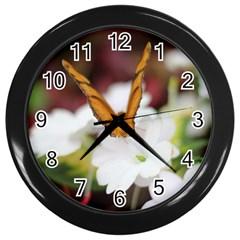 Butterfly 159 Wall Clock (Black)
