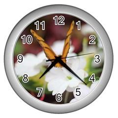 Butterfly 159 Wall Clock (Silver)