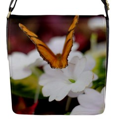 Butterfly 159 Flap Closure Messenger Bag (small)
