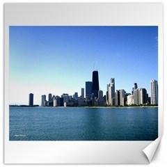 Chicago Skyline Canvas 20  x 20  (Unframed)