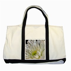 Un Named White Flower Two Toned Tote Bag