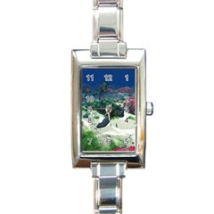 Sea Turtle Rectangular Italian Charm Watch
