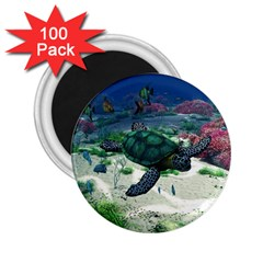 Sea Turtle 2 25  Magnet (100 Pack)