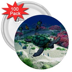 Sea Turtle 3  Button (100 pack)