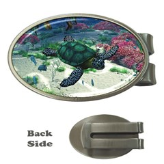 Sea Turtle Money Clip (Oval)