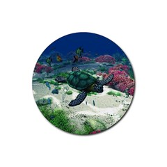 Sea Turtle Rubber Round Coaster (4 Pack)