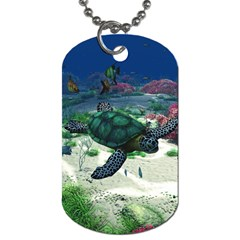 Sea Turtle Dog Tag (One Side)