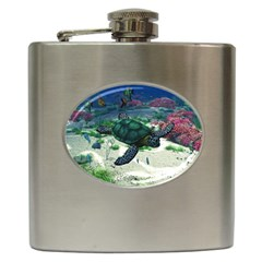 Sea Turtle Hip Flask (6 oz)