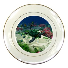 Sea Turtle Porcelain Plate