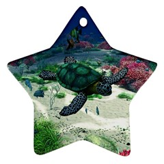 Sea Turtle Star Ornament (Two Sides)