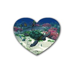 Sea Turtle Heart Coaster (4 pack)