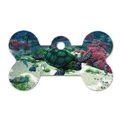 Sea Turtle Dog Tag Bone (two Sides)