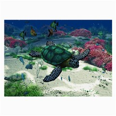Sea Turtle Glasses Cloth (Large, Two Sides)