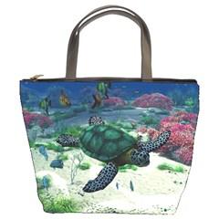 Sea Turtle Bucket Bag