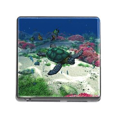 Sea Turtle Memory Card Reader With Storage (square)