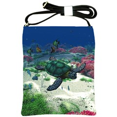 Sea Turtle Shoulder Sling Bag
