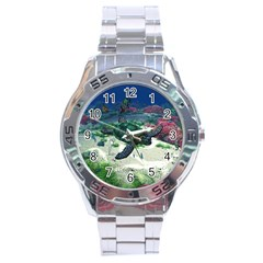 Sea Turtle Stainless Steel Watch (men s)