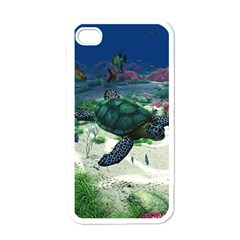 Sea Turtle Apple Iphone 4 Case (white)