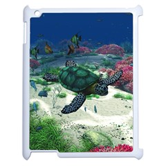 Sea Turtle Apple iPad 2 Case (White)