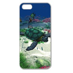Sea Turtle Apple Seamless Iphone 5 Case (clear)
