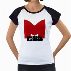 Logo Women s Cap Sleeve T-Shirt (White)