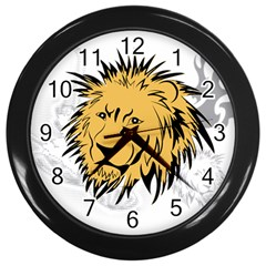 Lion Tattoo Wall Clock (Black)