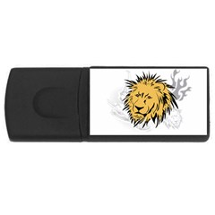 Lion Tattoo USB Flash Drive Rectangular (4 GB)