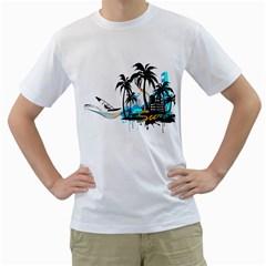 Surf Mens  T-shirt (White)