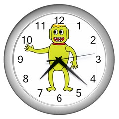 Untitled-3 Wall Clock (Silver)
