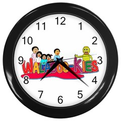 Walabookies Stickers Wall Clock (black)
