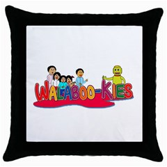 Walabookies stickers Black Throw Pillow Case