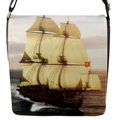 French Warship Flap closure messenger bag (Small)