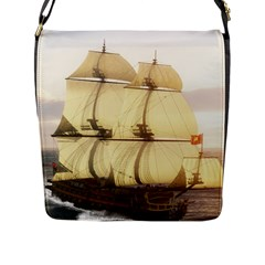 French Warship Flap Closure Messenger Bag (large)