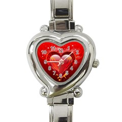 Heart Heart Italian Charm Watch