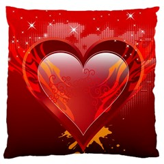 Heart Large Cushion Case (two Sides)