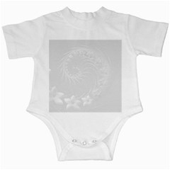 Light Gray Abstract Flowers Infant Creeper