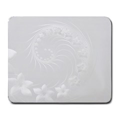 Light Gray Abstract Flowers Large Mouse Pad (rectangle)