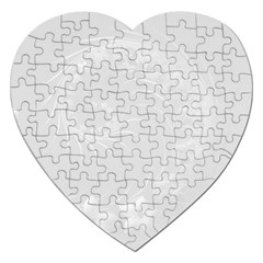 Light Gray Abstract Flowers Jigsaw Puzzle (heart)