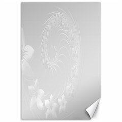 Light Gray Abstract Flowers Canvas 20  X 30  (unframed)