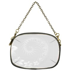 Light Gray Abstract Flowers Chain Purse (One Side)