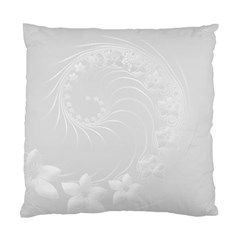 Light Gray Abstract Flowers Cushion Case (two Sides)