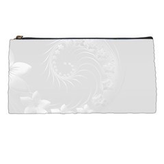 Light Gray Abstract Flowers Pencil Case