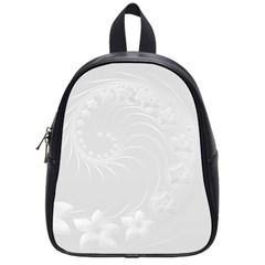 Light Gray Abstract Flowers School Bag (small)