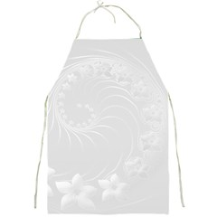 Light Gray Abstract Flowers Apron