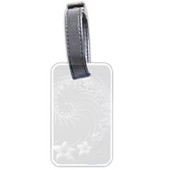 Light Gray Abstract Flowers Luggage Tag (Two Sides)
