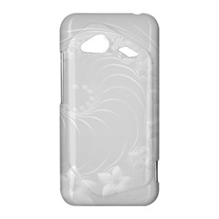 Light Gray Abstract Flowers HTC Droid Incredible Hardshell Case