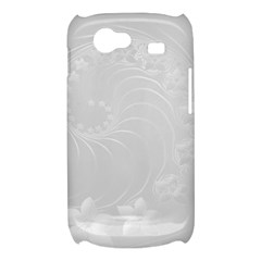 Light Gray Abstract Flowers Samsung Galaxy Nexus S i9020 Hardshell Case