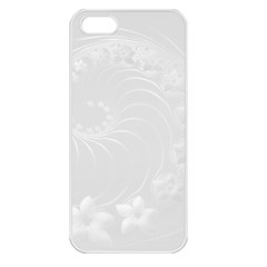Light Gray Abstract Flowers Apple iPhone 5 Seamless Case (White)