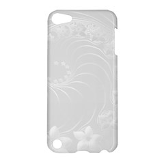 Light Gray Abstract Flowers Apple Ipod Touch 5 Hardshell Case